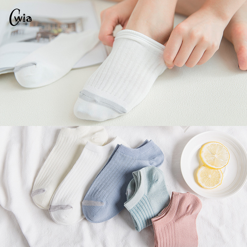Invisible Short Woman Sweat Summer Comfortable Cotton Girl Women's Boat Socks Ankle Low Female 1pair=2pcs Ws178