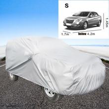 Серебряный Полное покрытие автомобиля водостойкий УФ Защита от солнца снег пыли Дождь Устойчив хранения Прочный моно слои прошитой