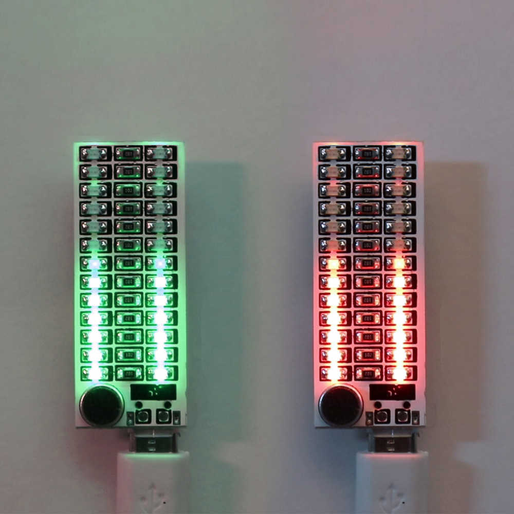 1 PCS 2*13 USB Mini Voice Control Muziek Audio Spectrum Flash Volume Indicator LED Display Module