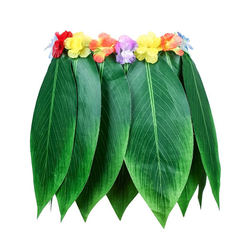 Hawaiian Artificial Leaves Grass Skirt Hula Grass Party Kids Adults Hawaii Flower Skirt Beach Summer Holiday Costume for PartyHawaiian Artificial Leaves Grass Skirt Hula Grass Party Kids Adults Hawaii Flower Skirt Beach Summer Holiday Costume for Party