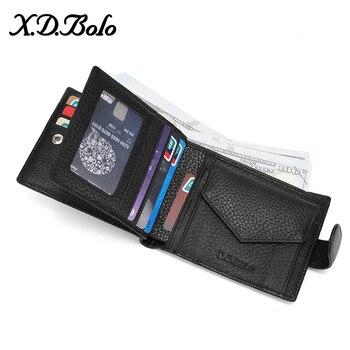 X. d. BOLO 2019 Ví Da Nam Ví nam Đựng Thẻ Bao Da Kim Tuyến dành cho Nam Ví với Đồng Tiền Túi Tiền túi