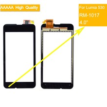 10Pcs/lot For Nokia Microsoft Lumia 530 N530 RM-1017 Touch Screen Touch Panel Sensor Digitizer Front Glass Outer Touchscreen new 4 inch digitizer touch screen for microsoft lumia 435 touchscreen panel replacement parts for lumia 532 free shipping