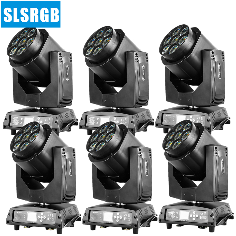 6pcs/lot 7x15w mini b eye led moving head bee eye zoom wash light 7x15W RGBW Led Mini Moving Head B Eye Light DMX27/55 Channels