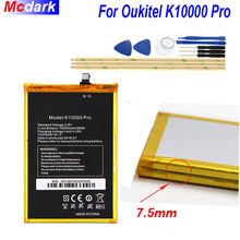 Oukitel K10000 pro 배터리 용 Mcdark 10000mAh 배터리 Bateria Accumulator AKKU ACCU PIL 휴대 전화 + 도구