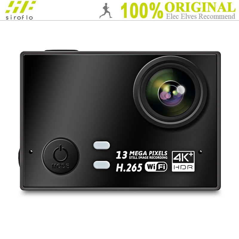 Sirolfo WiFi 4K 30fps Action Cameras Double Channels MIC Support H.265 Video 170 Degree Sports DV Camera