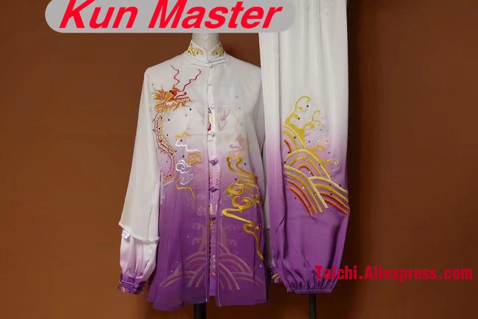 Custom Tai Chi Performance Uniform Embroidery  Man Martial Art Clothing For Kung Fu