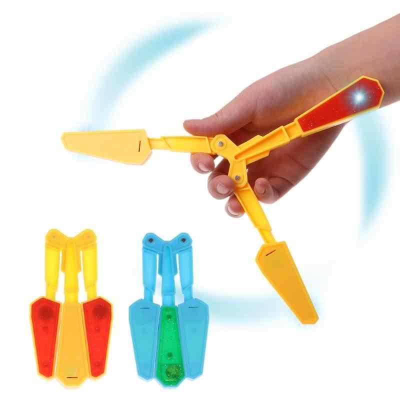 Для детей ПВХ нож-бабочка Флиппер флип-игрушки с светодиодный 100 трюки основной свет Finz игрушка бесконечная захватывающая развлечение Twirl It