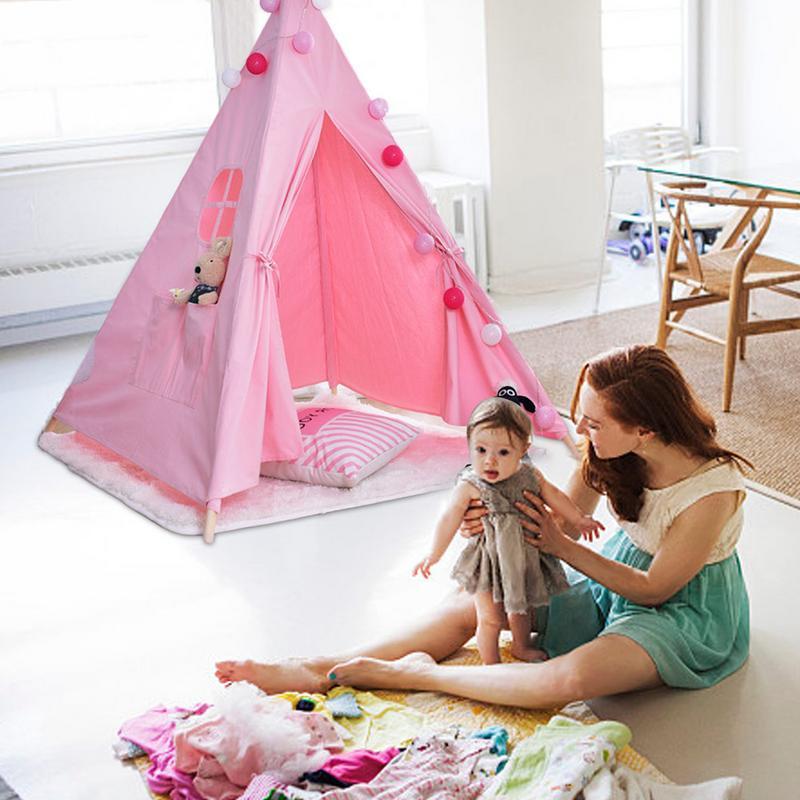 Deux couleurs indien enfants tente jeu maison bébé intérieur escalade bébé jouets pour enfants tente princesse tente enfants jouets cadeaux