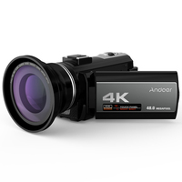 Andoer 4K Digital Video Camera Camcorder Ultra HD 48MP WiFi 3.0 Inch Touch Screen IR Infrared Night shot 16X Digital Zoom