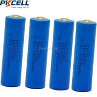 4PCS PKCELL ER14505 battery 3.6v AA 2400mah lithium batteries er 14505 liSOCL2 cell batteries for GPS tracking,Cameras