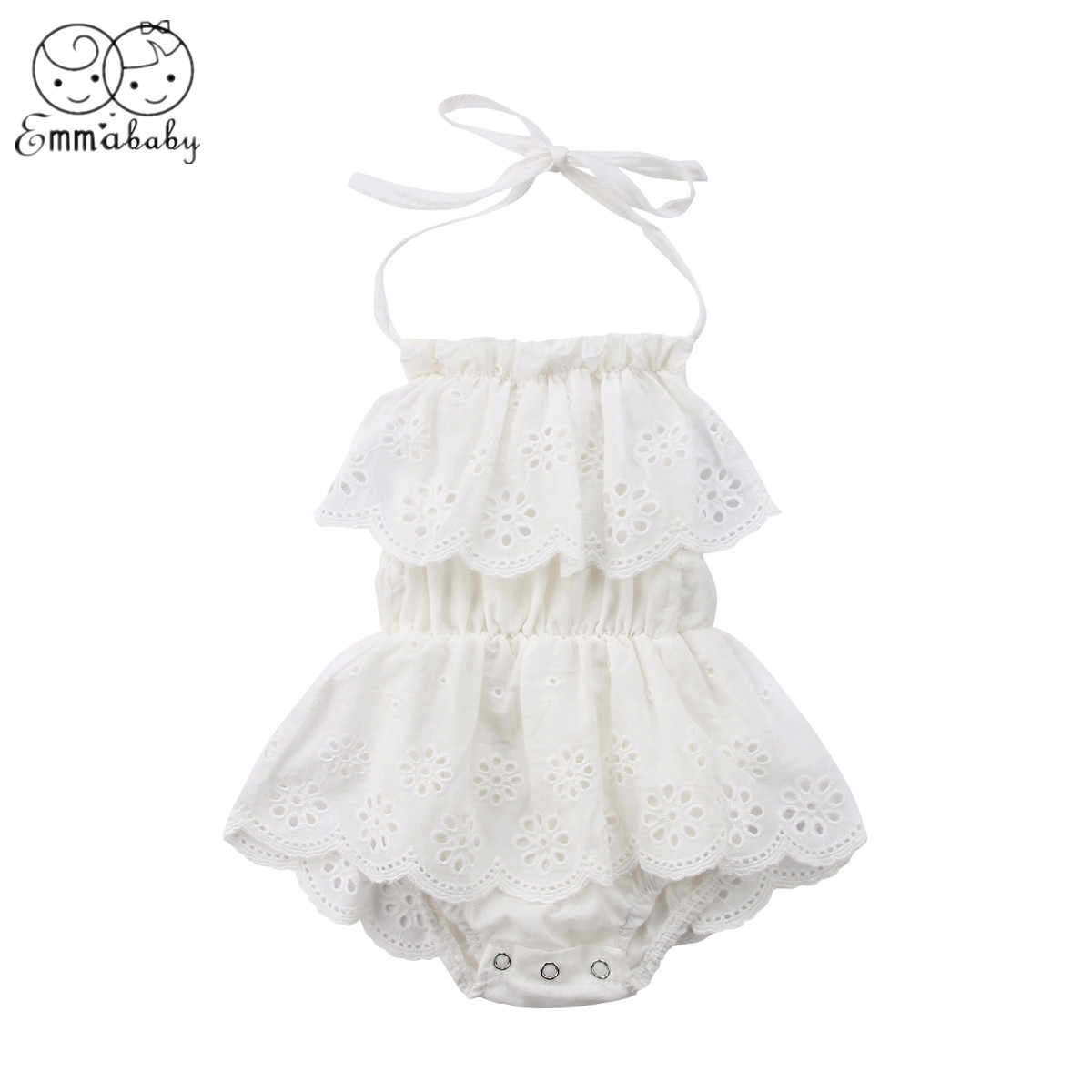 863c5219834 2019 Brand New 0-2T Cute Style Floral Ruffles Bodysuit Newborn Infant Baby  Girl Outfits