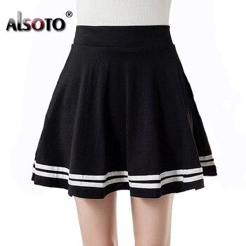 47dd1f79a2 Estilo de verano faldas para mujer negro de alta cintura sexy skater mini  vintage escuela faldas mujer tutu jupe saia femenina bola vestido de