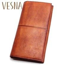 Vesna Vintage Women Purse Female Wallet Coin Pocket For Phone Wallets Clutch Tassel Pendant Card Holder