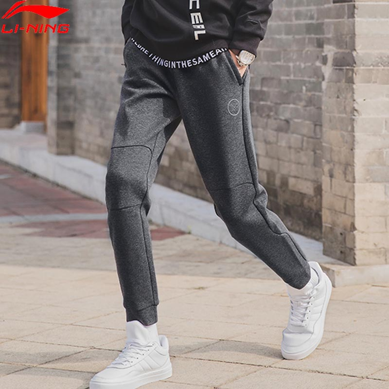 Li-Ning Men Wade Series Sweat Pants Comfort 66% Cotton 34% Polyester Regular Fit LiNing Sports Trousers Pants AKLN901 MKY427Li-Ning Men Wade Series Sweat Pants Comfort 66% Cotton 34% Polyester Regular Fit LiNing Sports Trousers Pants AKLN901 MKY427