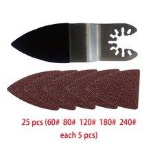 25PCS Sanding Discs Sheet Triangle Mouse Sandpaper Grinder Pads Palm Sander Disc Abrasive Tools For Polishing 60/80/120/180/240