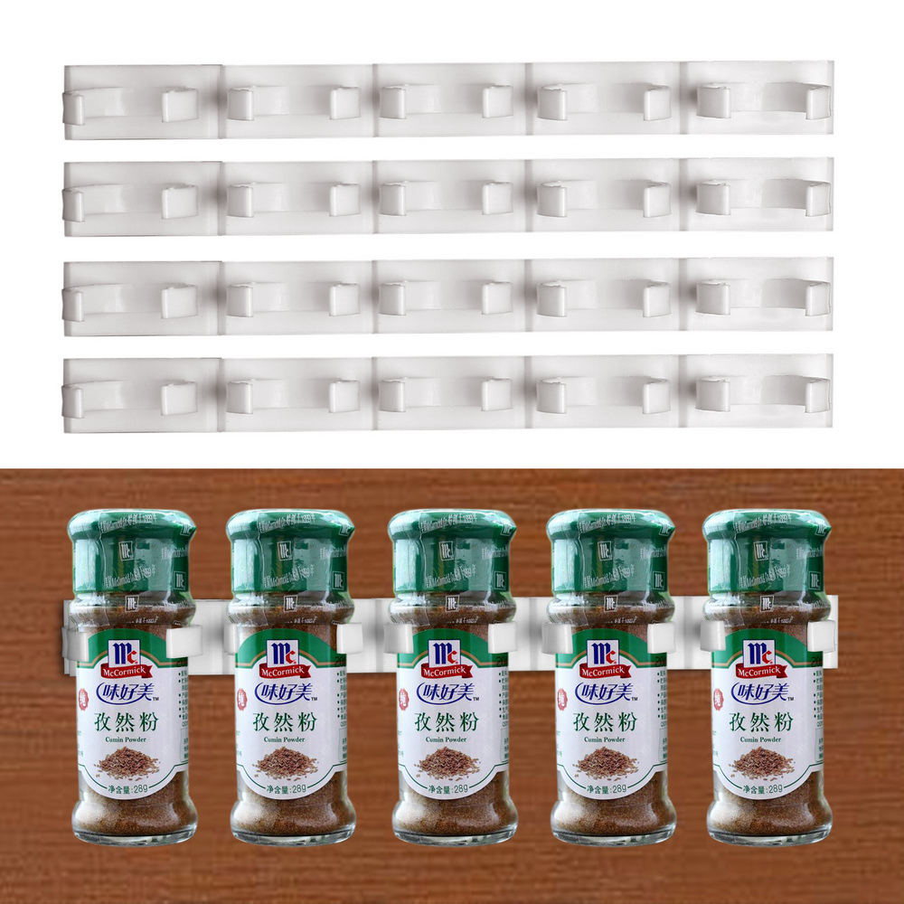 Seasoning Carrier Bottle Storage Holder Spice Rack Gripper 2pcs 4pcs Cabinet Clip Shelf Racks Store Home Kitchen Organizer