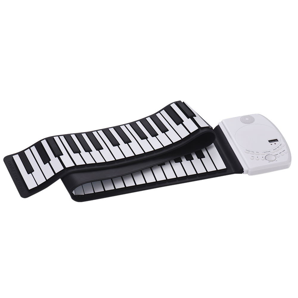 Portable 61 Keys Roll Up Piano Digital Keyboard Piano Soft Silicone Electronic Keyboard Recharge Battery Standard