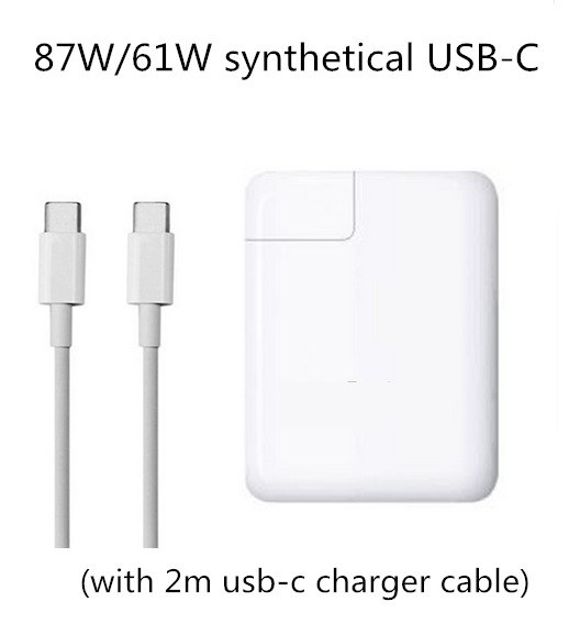 87W/61W synthetical Power Adapter Type C TWO USB-C port Charger For Latest Apple Macbook Pro 12 13 15 inch A1706 A1707 A1708