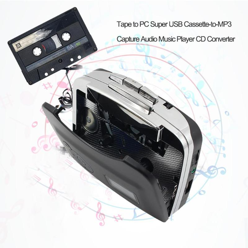 New 1Pcs Tape To PC USB Cassette To MP3 CD Digital Audio Music Player Converter Tape To MP3 Capture Recorder Car Styling Players