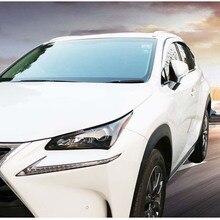 Абсолютно новые 1 компл. Хромированные боковые дождевики дефлекторы вентиляционные солнцезащитные козырьки для Lexus NX