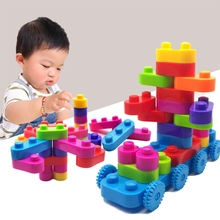 ZSDalo Baby Toys Building Blocks Set For Children Plastic Building Bricks Blocks DIY Learning Education Intelligence Toy 30/53PC 2020pcs alien building blocks diy bricks toy