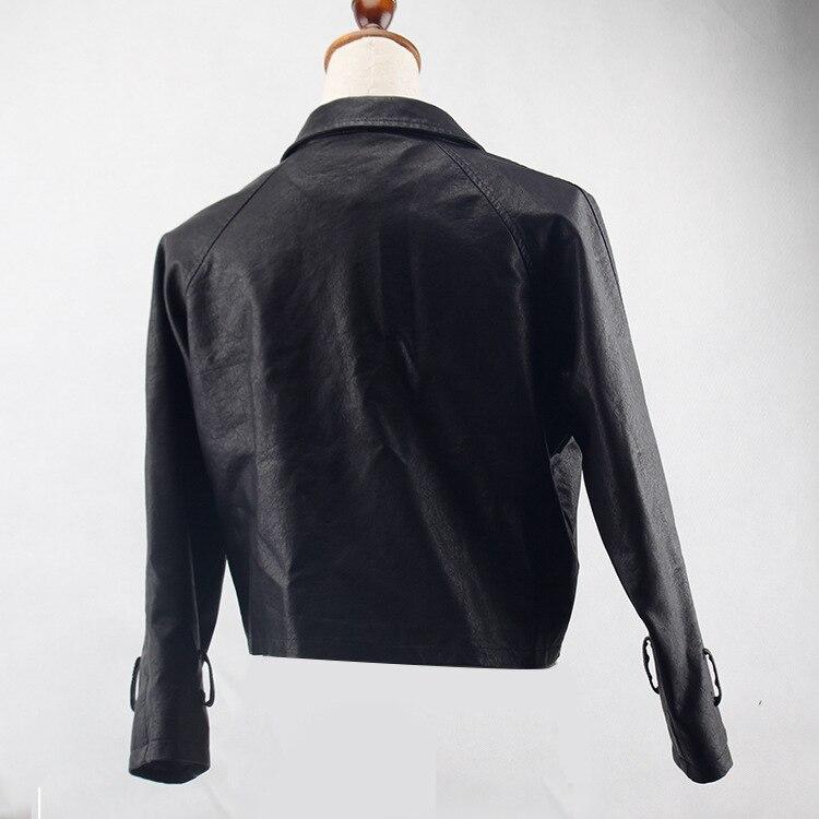 Hiver robe Style Vêtements Veste Cuir Costume En Nouveau Mode Lâche Manteau 2018 Locomotive De dqwfTBZ1d