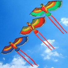 Новинка, Веселая спортивная кукла на открытом воздухе, 100x50 см, попугаи, воздушный змей+ веревка с пластиковой ручкой, Летающий воздушный змей, как подарки для детей
