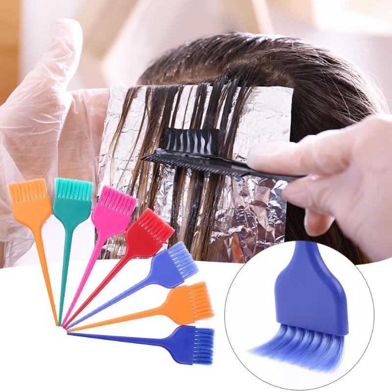 7pcs Professional Colorful Hair Dyeing Coloring Brushes Kit Dye Paint Tint Comb Salon Hairdressing Tool For Hair Coloring