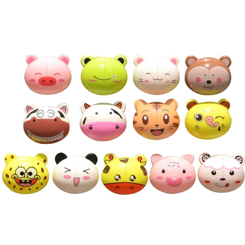 1PC Cartoon Animal Toothbrush Holder Toiletries Toothpaste Holder Bathroom Sets Suction Hooks Tooth Brush Container image