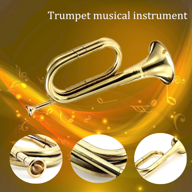 Brass Retro Brass Army Military Cavalry Copper Trumpet Bugle