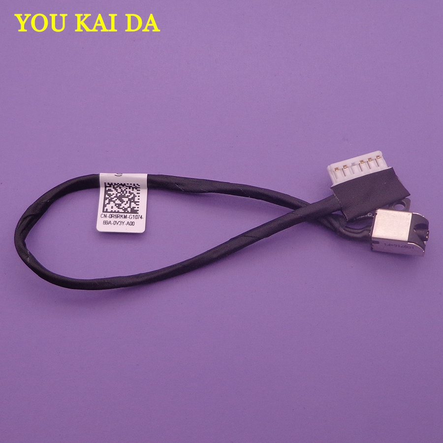 2pcs GENUINE New Laptop DC POWER JACK W/ CABLE Connector For Dell 15 5000 5565 5567 17-5765 I5765 P32E BAL30 0R6RKM DC30100YN00