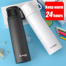 500ML Thermos Stainless Steel Tumbler Vacuum Flasks Outdoor for Children Baby with Cover Tea Thermocup