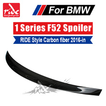 For BMW 1-Series F52 RIDE Style 3 Boxes Of Cars High-quality Real Carbon Fiber Rear Trunk Spoiler Wing  Lip Decoration 2016-2018