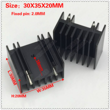 (Free Shipping) 10 pcs TO-220 aluminum heat sink / MOS tube heat sink / triode heat sink 30X35X20MM black double needle free shipping 10pcs d458 aod458 mos to 252
