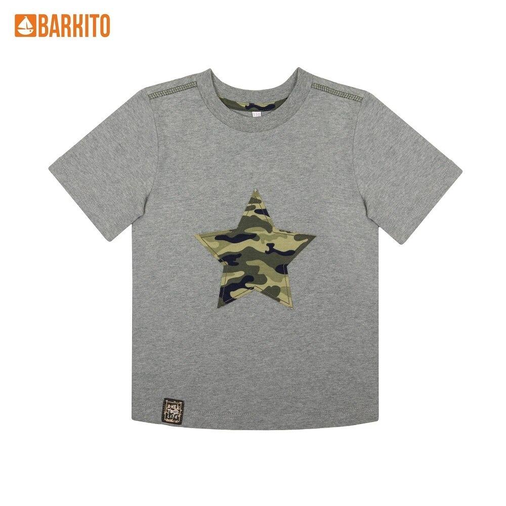 T-Shirts Barkito 340225 children clothing Cotton S19B4001J(8) Gray Boys Casual