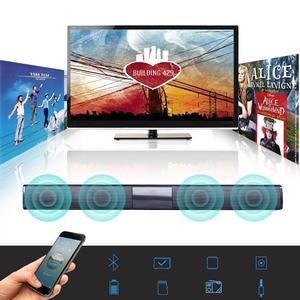 Image 5 - Беспроводная звуковая панель Bluetooth, Стереодинамик для ТВ, домашнего кинотеатра, TF USB звуковая панель (черная)