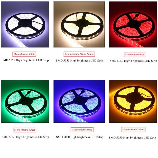 BEILAI SMD 5050 RGB LED Strip Waterproof DC 24V LED Light Strips 5M 300LED 60LED/M Flexible Neon Tape Luz Home Lighting