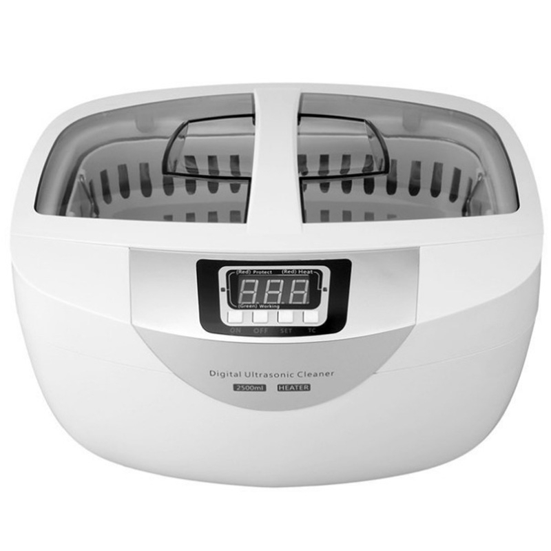 SANQ Ultrasonic Cleaner Jewelry Watches Instrument Of Manicure Nail Cleaner 2.5L 60W 40Khz Heating Ultrasonic Bath-Us PlugSANQ Ultrasonic Cleaner Jewelry Watches Instrument Of Manicure Nail Cleaner 2.5L 60W 40Khz Heating Ultrasonic Bath-Us Plug