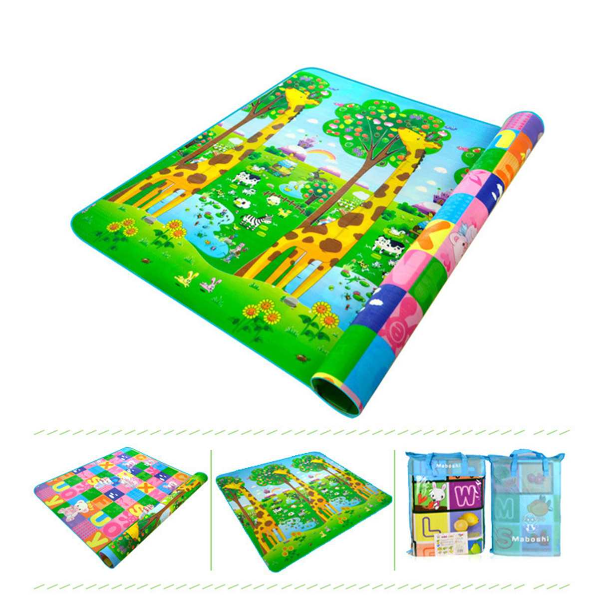 Non-Woven Baby Kids Crawling Mat Blanket Double Side Gym Play Mat Educational Soft Foam Picnic Carpet Activity Gear 2*1.8MNon-Woven Baby Kids Crawling Mat Blanket Double Side Gym Play Mat Educational Soft Foam Picnic Carpet Activity Gear 2*1.8M