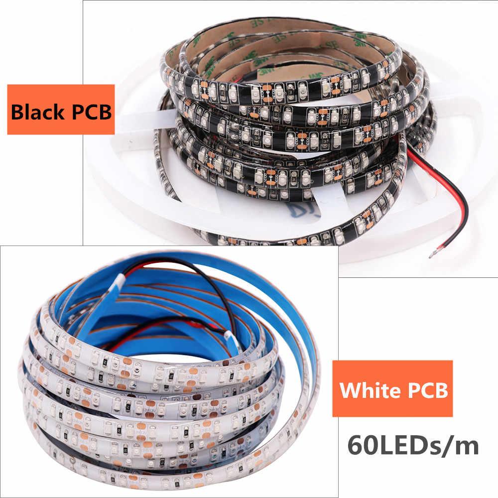 DC12V УФ светодиодный полосы света 2835 SMD 60 Светодиодный s/m IP65 Водонепроницаемый ультрафиолетовым излучением светодиодный Диодная лента фиолетовый гибкие светодиодные ленты лампы 5 м/рулон