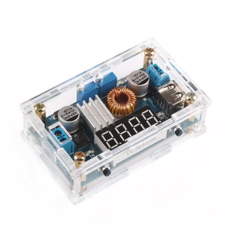 <font><b>LM2596</b></font> DC-DC Step Down Converter 5-36V to 1.25-32V 3.3v <font><b>12v</b></font> 24v 5A Buck Voltage Regulated Power Supply + LED Voltmeter +case image