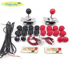 Image 2 - Arcade Joystick DIY Kit Zero Delay Arcade DIY Kit USB Encoder To PC  Arcade Sanwa Joystick and Push Buttons For Arcade Mame