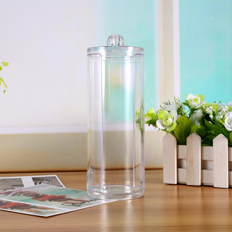 Pad-Box Round-Container Acrylic Makeup Transparent Portable Cotton 1PC