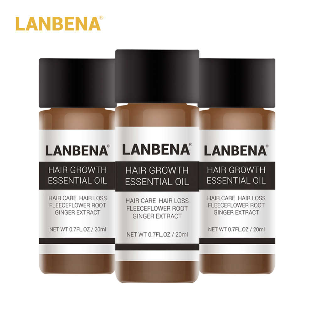 Lanbena Hair Growth Essence Hair Growth Products Essential Oil Liquid Treatment Preventing Hair Loss Hair Care Andrea 20ml 3pcs