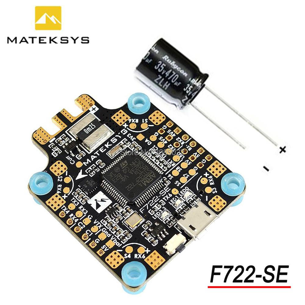Matek System F722-SE F7 STM32F722 Dual Gryo Flight Controller Built-in PDB OSD 5V/2A BEC Current Sensor F722 SE for Racing Drone(China)