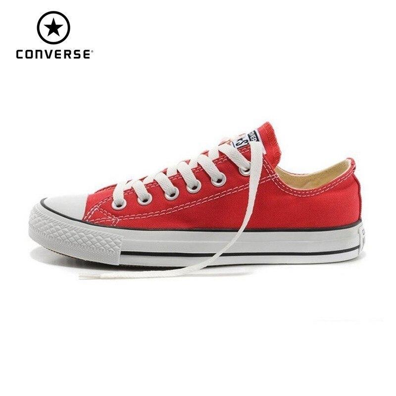Converse All Star Hommes chaussures pour skateboard Femme décontracté toile classique Unisexe Anti-Glissante Sneakers