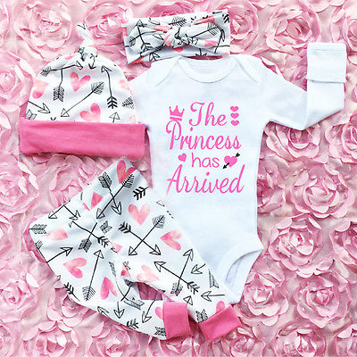 Pudcoco 3PCS <font><b>Newborn</b></font> <font><b>Baby</b></font> <font><b>Girls</b></font> <font><b>Clothes</b></font> Set Cotton Soft Long Sleeve Infant <font><b>Baby</b></font> Romper Pants Outfit <font><b>Autumn</b></font> <font><b>Girls</b></font> Clothing image