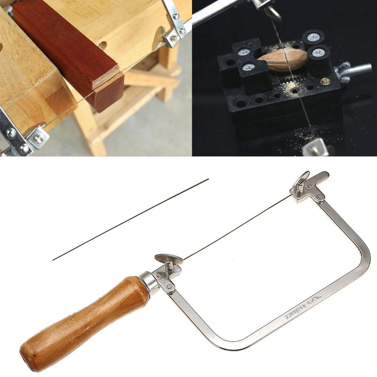 Tragbare Hand Sah für Holz Mini Hand Werkzeuge Sah Bogen Schmuck Draht Geschnitzt U-geformte Hand Hacksaw Griff Werkzeug für Holz Metall