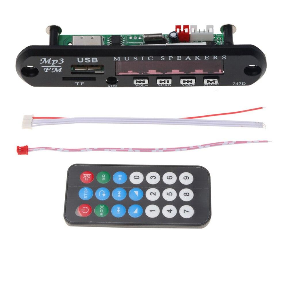 Q9A 12V Decoder Radio USB AUX TF Audio Board Car MP3 FM Remote Music Speaker