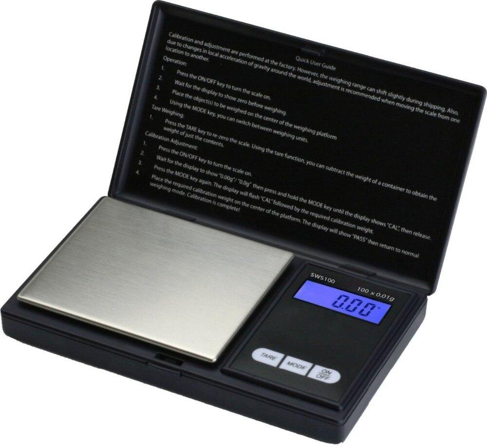 5 pièces Mini Numérique Poids Balances de Poche 0.01g ÉCRAN LCD avec Rétro-Éclairage 200g Électrique Poche Bijoux Gramme Balance de Poids